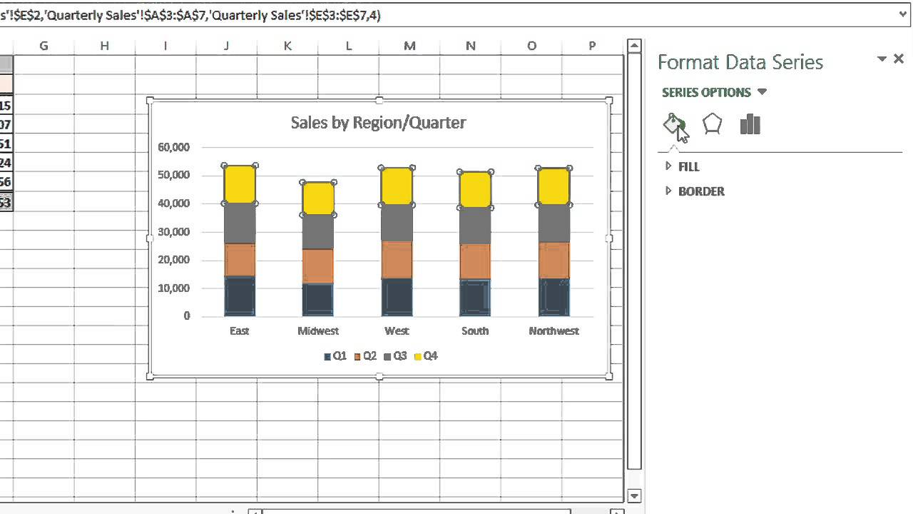 How To Change The Color Coding On A Microsoft Excel Graph Legend
