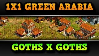Age of Empires 2 HD 1x1 Green Arabia Goths War AoE2HD Gameplay PT BR
