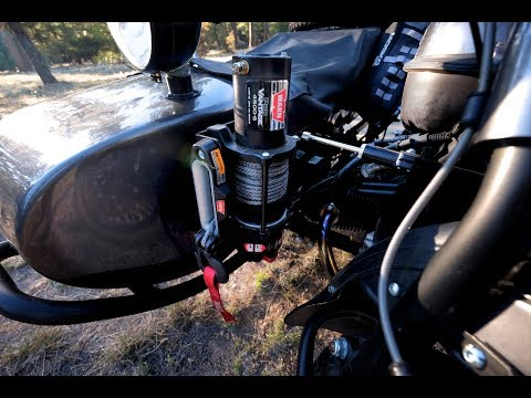 How To Install Winch Mount On An Ural Motorcycle Youtube