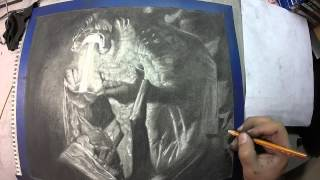 Time Lapse Drawing: Godzilla 2014 and Love of My Life
