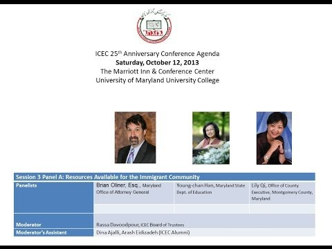 ICEC 25th Anniversary Conference- Session 3A- Resources available for the Immigrant Community