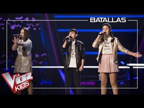 Eva, Laura Bautista Y Marcos Cantan 'What About Us' | Batallas | La Voz Kids Antena 3 2019