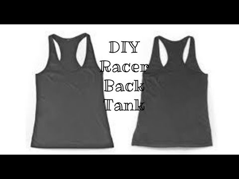 efe92527d DIY Super Easy Racerback Tanktop - YouTube