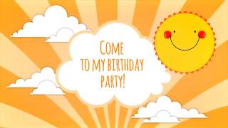 After Effects Project Files - Kids Party Invitation - VideoHive 7064362