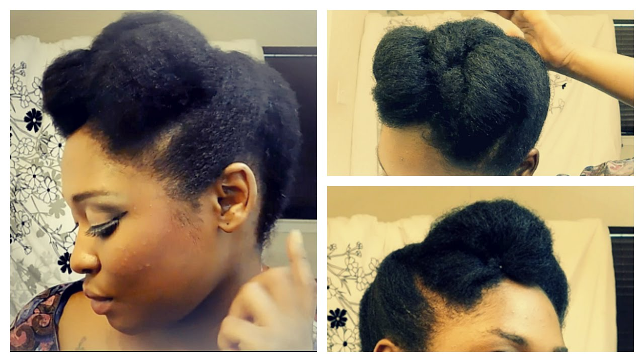Simple Braided Hairstyles For Medium Natural Hair : Quick and easy updo on short to medium length b c