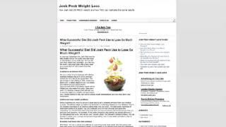 Josh Peck Weight Loss Website Introduction