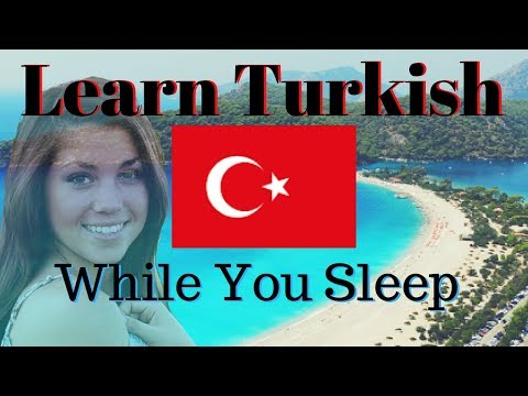 Learn Turkish While You Sleep 😀 130 Basic Turkish Words and Phrases 👍 English/Turkish