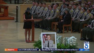 Slain L.A. County Deputy Remembered at Funeral