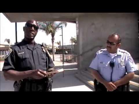 DHS Idiot tells cameraman JC Playford that his media credentials aren't good enough