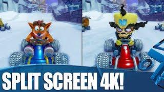 Crash Team Racing Nitro-Fueled - 4K Split Screen Gameplay