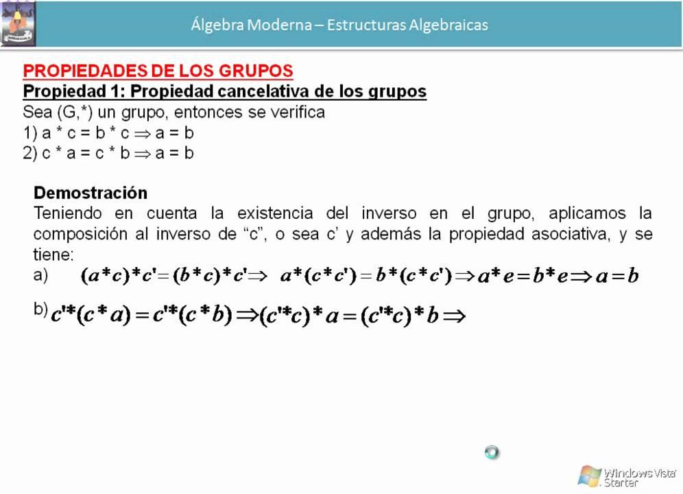 Tutorial Unidad 7 Estructuras Algebraicas