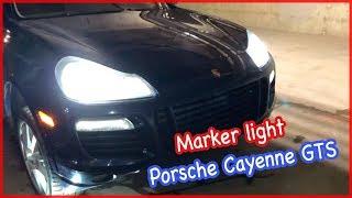 DiY 2009 Porsche Cayenne GTS 9PA marker light/side lights. Замена габаритки. English.