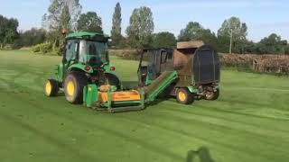 Bury Turfcare - Scarifying using Koro