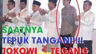 Video Lucu Banget!! Yang lain Tepuk Tangan Jokowi Terdiam Kaku @Deklarasi Kampanye Damai