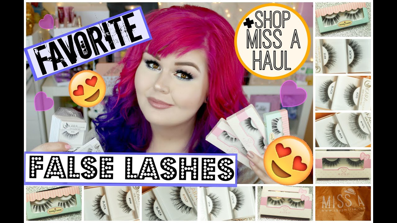 8571d7b3a9f Favorite False Lashes + Shop Miss A Haul - YouTube