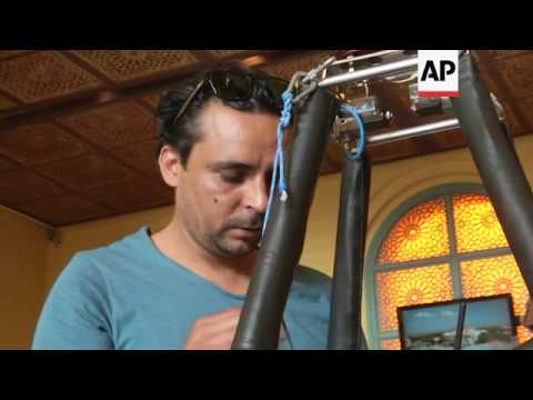 Man trains to become Tunisia's first hot air balloon pilot