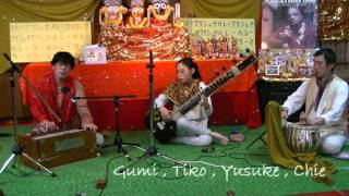 Gumi , Tiko , Yusuke , Chie : Part2@ 6 hour kirtan OSAKA JAPAN 13.Dec.2015