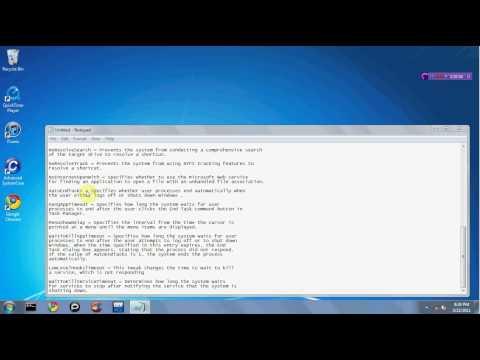 Windows 7 Registry Tweak