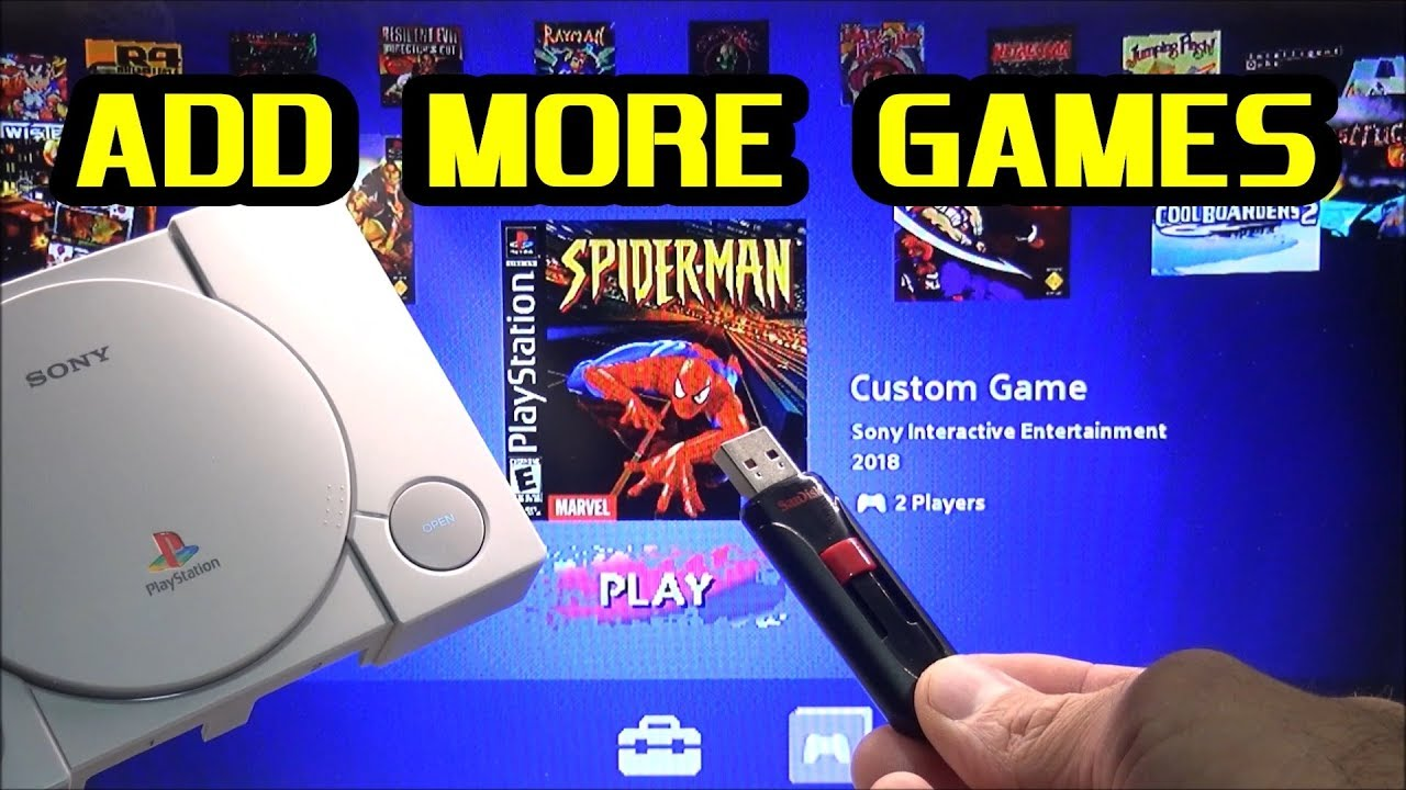 Add your own Game to the PlayStation Classic using a USB Flash Drive: Spiderman - YouTube