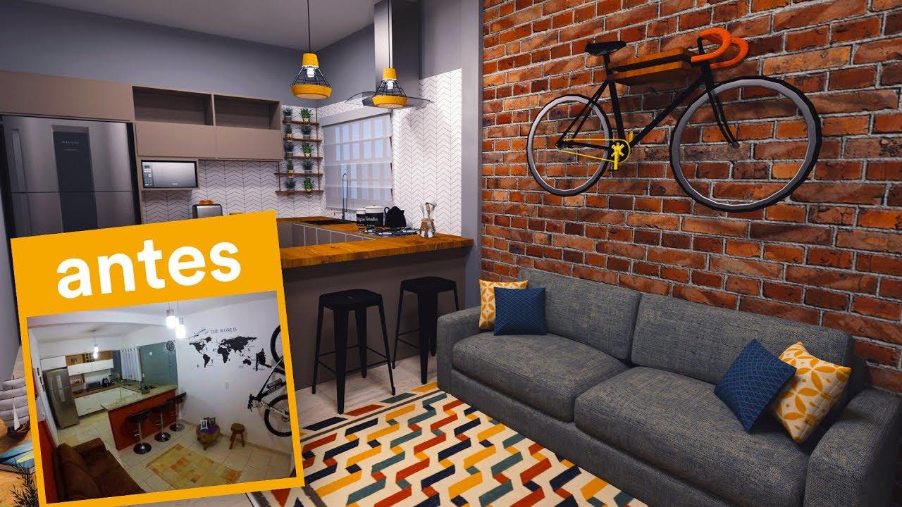 Loft Pequeno Cozinha Cozinha Pequena Com Azulejo Na Parede Essa