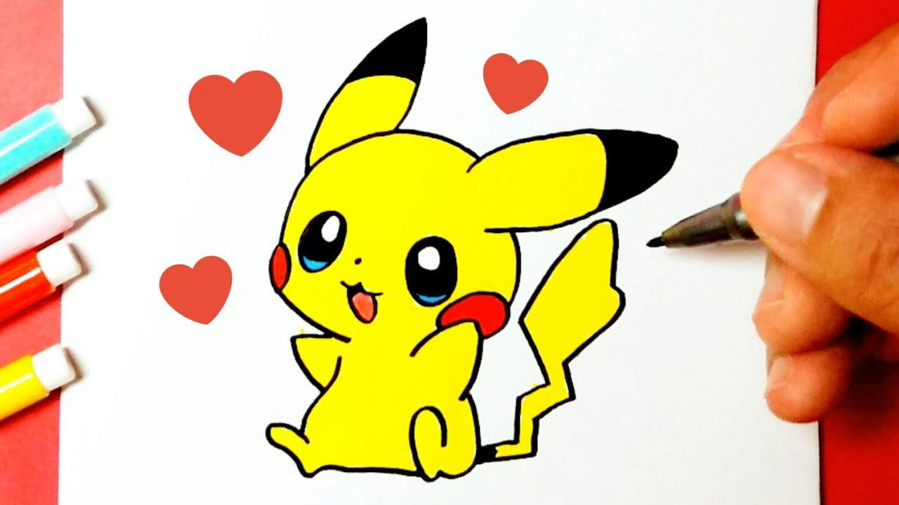 How To Draw Cute And Cute Pikachu Pokémon Cute Drawings Drawing To Draw