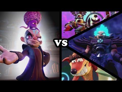 Skylanders Imaginators - Kaos VS All Bosses (Doomlanders, Super Kaos & Fake Crash)