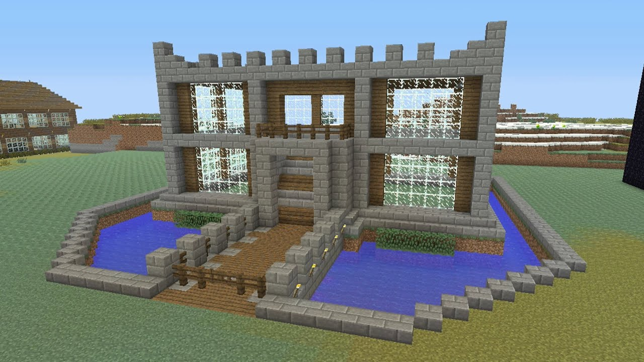 Minecraft tutorial how to make a castle survival house for Build a castle home