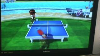 小二生玩wii 11分桌球賽