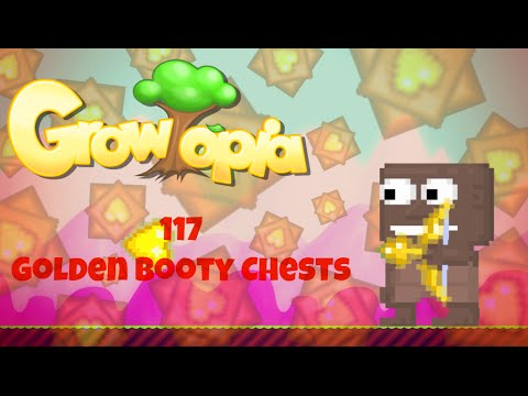 Growtopia | Opening 117 Golden Booty Chests
