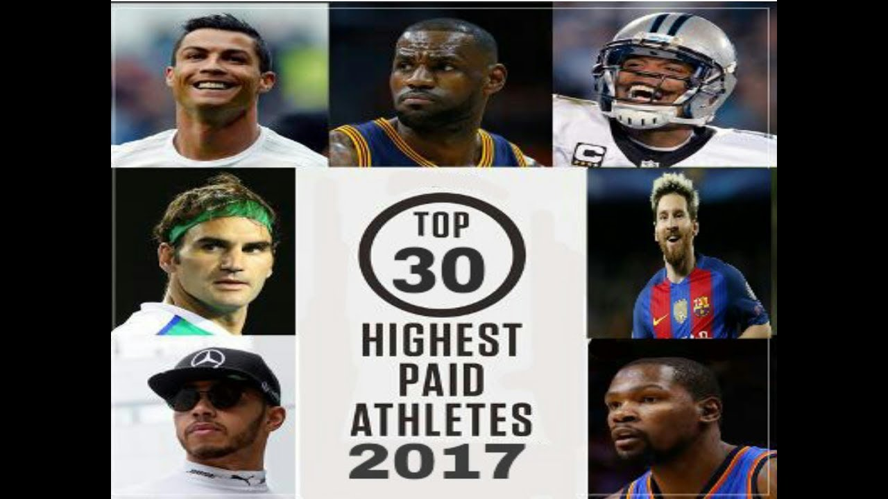 World's Top 30 Highest Paid Athletes 2018
