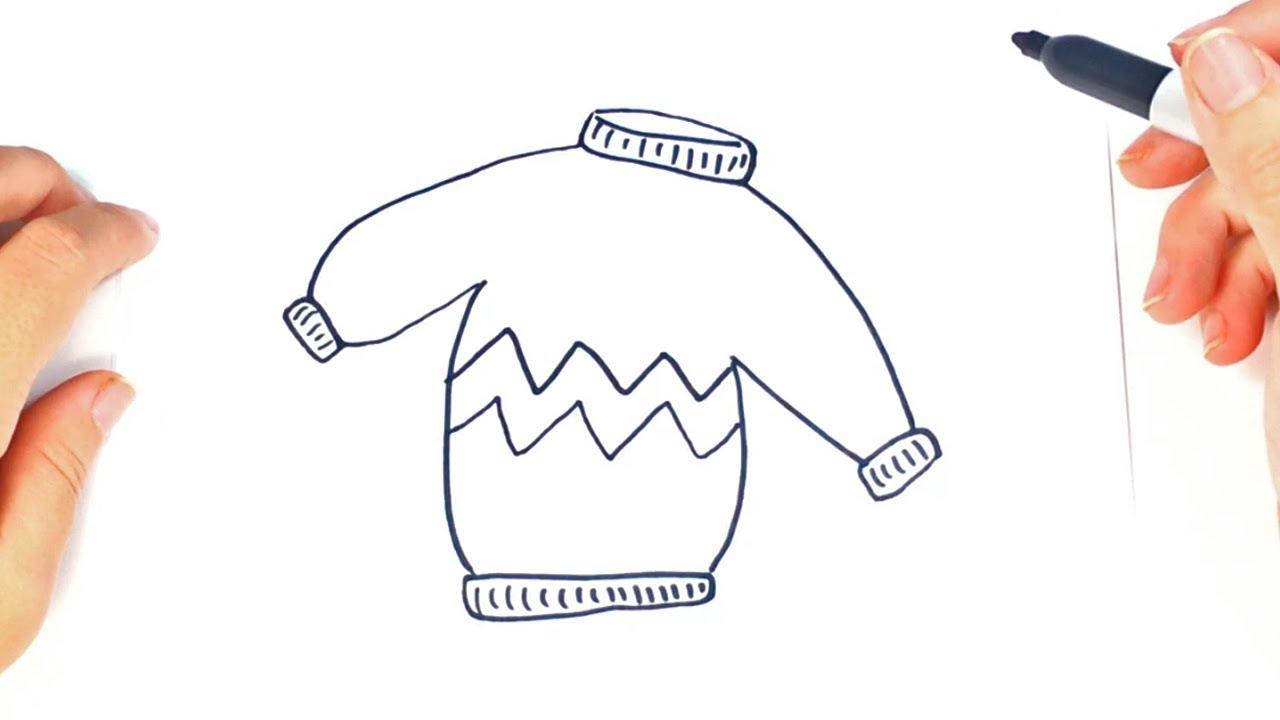 Cómo dibujar un Jersey paso a paso   Dibujo fácil de Jersey - YouTube