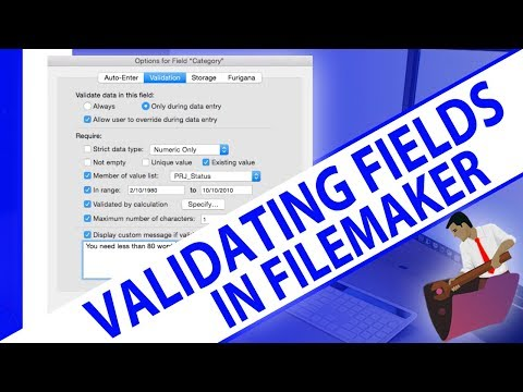 Validating Fields in FileMaker-FileMaker Training-FileMaker Validation-FileMaker Experts