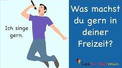 Learn German | German Speaking | Was machst du gern in deiner Freizeit? | Sprechen - A1 | A2
