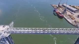Мост в Затоке с высоты птичьего полета / Bridge in Zatoka bird