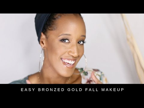 Easy Bronzed Gold Fall Makeup Tutorial thumbnail