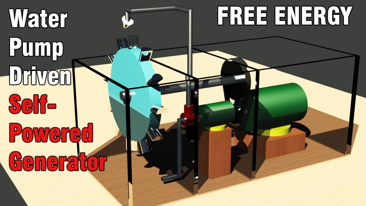 Free Energy Generator Self Powered Water Pump Driven