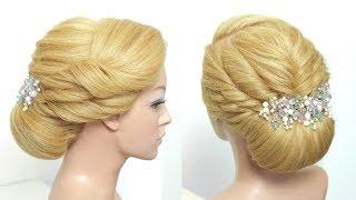 Easy Bun Hairstyle. Updo For Long Medium Hair Tutorial