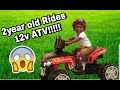 Kids 12v ATV Ride On   Unboxing and Riding