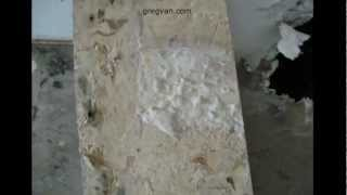 Wood And Drywall Water Heater Platform Damage - Home Repairs