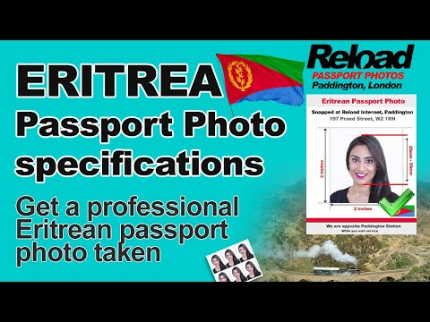 Eritrean Passport Photo specifications and Visa Photos for Eritrea snapped in Paddington, London
