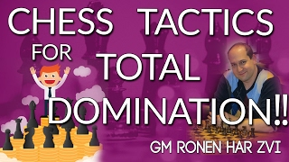 7 easy chess tactics for total domination with gm ronen har zvi icc
