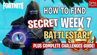 Fortnite: How to Find SECRET Week 7 Road Trip Battlestar! Plus Complete Challenges Guide!