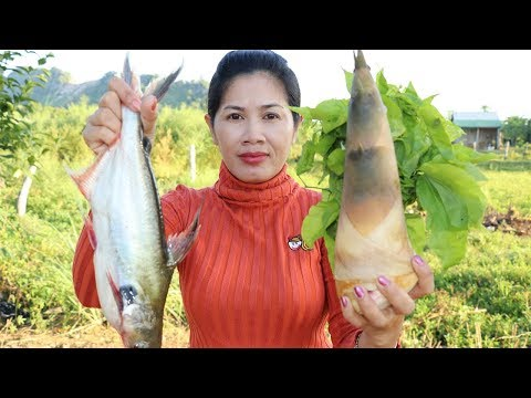 Awesome Cooking Fish​​​ With Bamboo Vegetable Recipe –  Cook Fish Recipes –  Village Food Factory