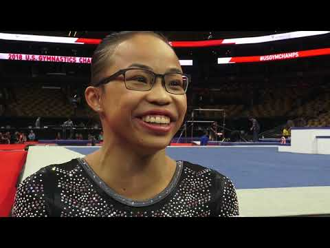Morgan Hurd - Interview – 2018 U.S. Gymnastics Championships – Senior Women Day 2