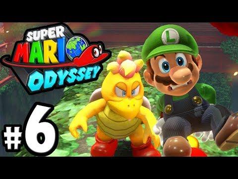 Super Mario Odyssey - Nintendo Switch Gameplay Walkthrough PART 6: UFO Torkdrift Boss - Luigi amiibo