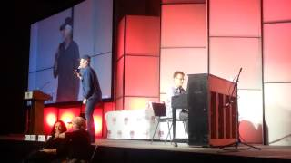 "Rob Paulsen and Randy Rogel sing the entirety of ""Yakko's Universe""..."