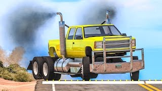 SPIKE STRIP HIGH SPEED CRASHES #15 - BeamNG Drive