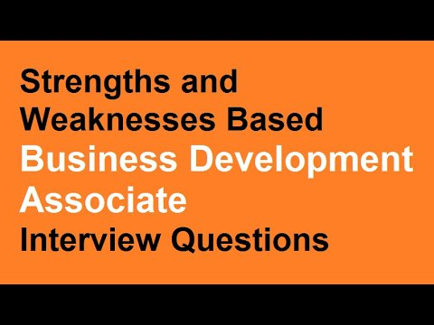 Strengths and Weaknesses Based Business development associate