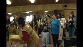 Johnson O Malley Potlatch Dancers perform at the Fairbanks Native Association Potlatch 2013