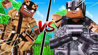 CRAFTING TABLE Armor vs FURNACE Armor | Minecraft
